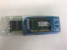 1GB (2x 512mb) PC2700 Crucial Memory Kit 333MHz DDR 184-Pin Non-ECC Desktop RAM