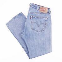 Vintage LEVI'S 501 Regular Straight Fit Men's Blue Distressed Jeans W38 L32