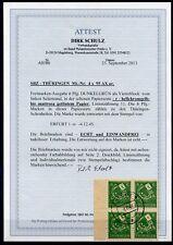 SBZ-Thüringen 4rer Block SR Nr:95AXar Gestempelt  Attest BPP Schulz -KW 2400,- €