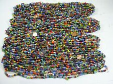 4 Pounds Assorted India Handmade Spacer Glass Beads Wholesale Bulk Lot (TD-71)