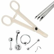 9pcs PRO Piercing Kit Body Jewelry Needle 14G 16G 18G Belly Ear Nipple Lip Ring