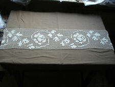 #706  Beautiful Vintage Hand Made Lace  96cm/23cm(38''/9'')