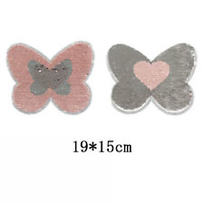 butterfly reversible change color sequins sew on patches for clothes cloth XB