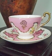 EB Foley Bone China Cup & Saucer in Pink Floral Design made in England