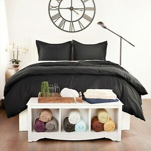 Luxury Ultra Soft 3 Piece Solid Duvet Cover by Sharon Osbourne Home