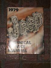 1979 JEEP CHEROKEE Wagoneer Service Shop repair Manual