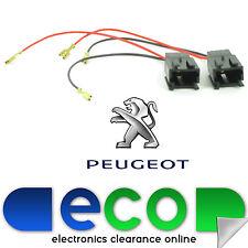 Peugeot 207 Delantero O Trasero Puerta Coche Adaptador De Enchufe De Altavoz Conectores de plomo (par)