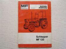 Massey Ferguson MF135 Schlepper Bedienungsanleitung Betriebsanleitung 1975