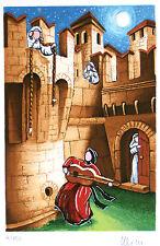 Ulisse, la serenata serigrafia materica 28 x 35