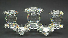 Swarovski | 3 Light Candle Holder Candelabra *New* 7600Nr115 Rare Retired Clear