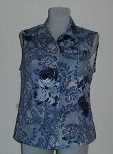 Neue Damenweste Jeansweste Gr.36-42  Baumwolle/Elasthan blau gemustert Nr.4665