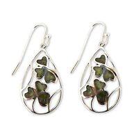 Irish Connemara Marble Inlaid Teardrop Earrings by J. C. Walsh & Sons #7026