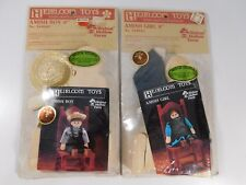 """Heirloom Toys Amish Girl and Boy 8"""" Doll Craft Kits New"""