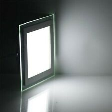 """(6) Luxury Square LED Glass Panel Recessed Lights 12W 6"""" 6000K White 6 PACK!"""