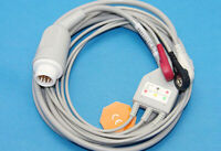12 Pin Philips Patient Cable 3 Leads Snap ECG Cable M1972A Compatible