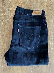Levis Black 505 Mid Rise Straight Leg Jeans Size 6 NWOT