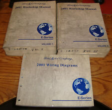 2001 Ford Econoline E-Series Van Shop Service Manual 1 & 2 + Wiring Diagram Set