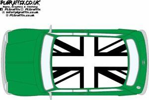 Classic Mini Inverted Union Jack flag graphics stickers decals Cooper