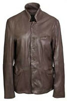 New Muubaa Mens Florian Leather Jacket in Graphite Size Medium rrp £299