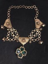 Four Leaf Clover Solid Perfume Necklace 1960
