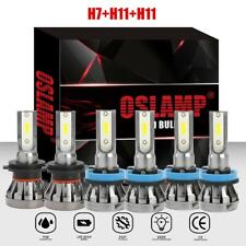 H7+H11+H11 LED Headlight Bulbs + Fog Lights Combo for Hyundai Santa Fe 2013-2016
