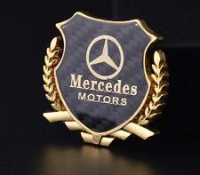 1x 3D Gold Car Side Metal Badge Emblem Decal Sticker Fit  For Mercedes-Benz Car