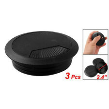 3 pz passacavo in plastica nera per scrivania diametro 60mm   HK