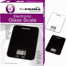 ELECTRONIC KITCHEN SCALES ULTRA SLIM GLASS PLATFORM 5kg DIGITAL SCALE