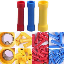 New listing 100X Insulated Terminal Butt Connector Electrical Automotive Cable Wire Crimpii