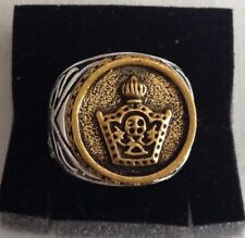 H-MIDDLE EAST,STUNNING IMPERIAL CROWN RING,SIZE UK Q,US AND CANADA 8 1/4.9.5 GR