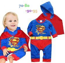 New Baby Boy Super Hero suit One-Piece Romper +cape costume size6M -24M