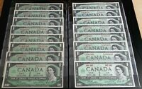 1967 BANK OF CANADA Complete Set of 16 Centennial Notes All Prefix CH.UNC