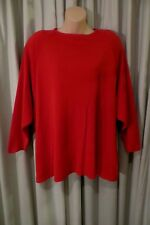 VINTAGE  ~ WENDY HEATHER ~ Red TUNIC JUMPER Size S {22 } ~ REDUCED !!
