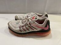 NIKE Air Max 2015 Running Shoes Size 8.5 White Pink Black 698903-106
