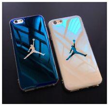 Apple iPhone 7 brillante azul caso Air Jordan Baloncesto Cubierta De Bolsa De Protección Brillante