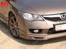 Front & Rear Lips Skirts Mugen Style for Honda Civic 4D Sedan 8th gen 2009-2012