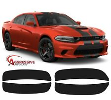 2015-2020 Dodge Charger Side Marker Light Tint Dark Smoke Vinyl - Front & Rear