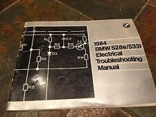 1984 BMW E28 528e 528i 533i Electrical Troubleshooting Wiring Diagram Manual