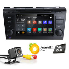 "For Mazda 3 2006 2005 2007 2008 HD Car Stereo Android 8.1 7"" DVD GPS Radio CAM E"