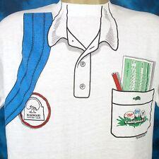 vintage 80s CADDYSHACK 2 SIDED T-Shirt M/L miller beer golf bushwood thin movie