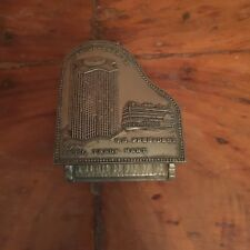 Vintage New Orleans SS President and Trade Mart Piano Shape Metal Trinket Box
