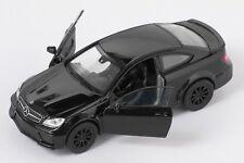 BLITZ VERSAND Mercedes Benz C63 AMG Coupe schwarz Welly Modell Auto 1:34 NEU OVP