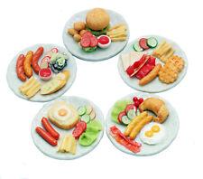 Adorable Mixed 5 Assorted Dollhouse Miniature Food,Tiny Food, Barbie Food