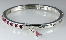 4031056 Cure Hope Fight Breast Cancer Stretch Bracelet Awareness Pink Ribbon