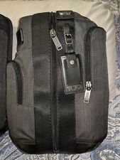 Tumi Higgins Sling Bag Crossbody Backpack Charcoal Gray with Black Leather Trim