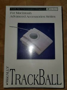 NEW VINTAGE Macally Trackball Mouse for Macintosh Advanced Accessories Series
