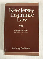 New Jersey Insurance Law By George J. Kenny Frank A. Lattal 2020 Edition