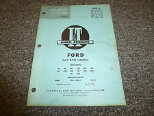 Ford 901 1801 802 900 700 701 800 501 600 601 9N Tractor Flat Rate Manual Fo9