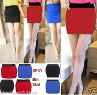 Womens Stretch Bodycon Plain Office Work Mini Skirt Size 6 8 10 12 14 16-min wig