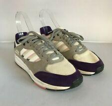 Adidas Ladies Trainers Size UK 6.5 Purple Grey Textile Lace-Up Shoes 301598